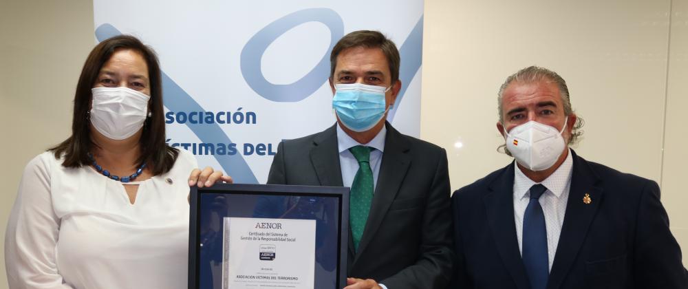 La AVT obtiene el certificado de Responsabilidad Social IQNet SR10 de AENOR