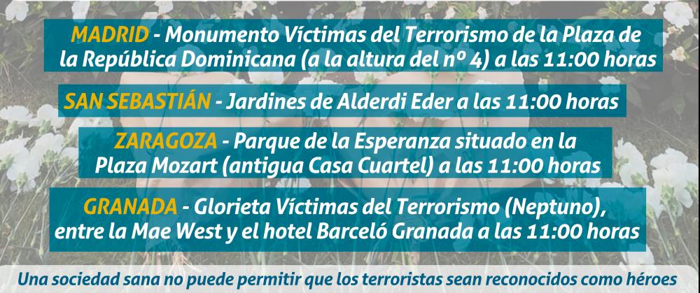 Actos en conmemoración a las víctimas del terrorismo el 18 de septiembre