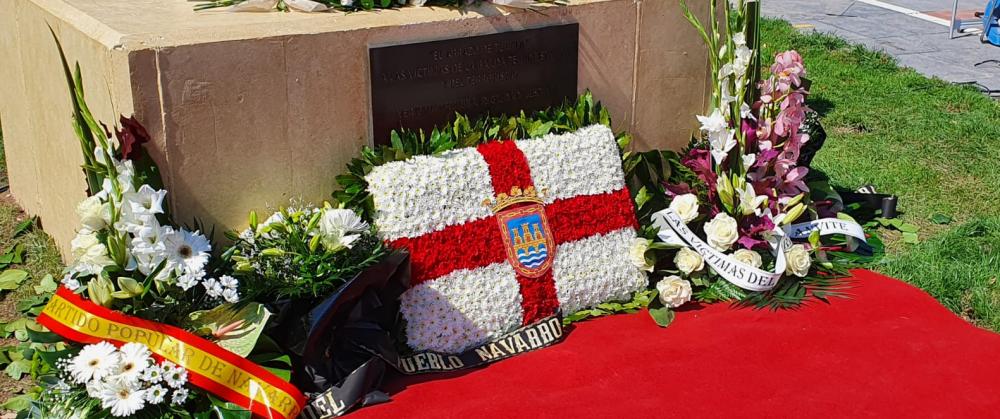 Inauguración de un monolito en memoria de las víctimas del terrorismo en Tudela