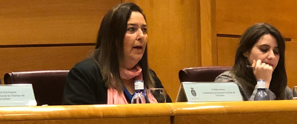 La presidenta de la AVT interviene en una Conferencia sobre terrorismo en el Senado