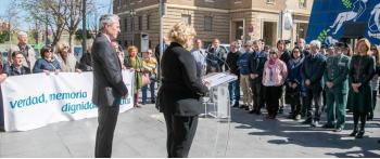 Zaragoza homenajea a las víctimas del terrorismo en el 11M