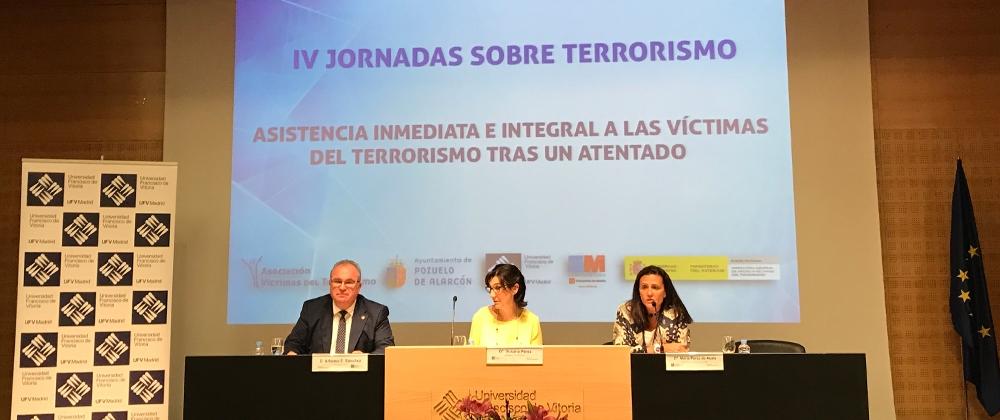 La AVT imparte en la UFV unas jornadas sobre la asistencia inmediata e integral a las víctimas del terrorismo tras un atentado