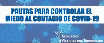 Pautas para controlar el miedo al contagio de COVID-19