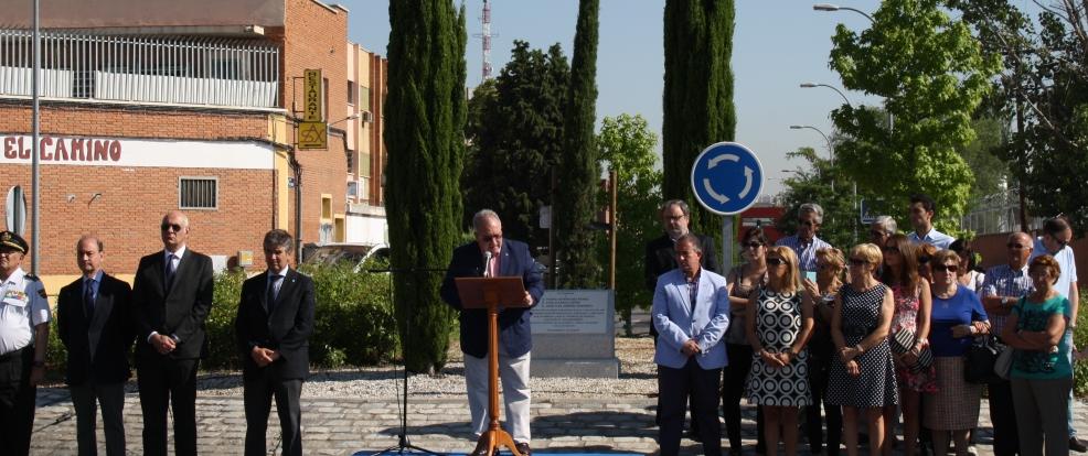 Homenaje en Villaverde a Pedro Domínguez, Luis Claraco y José Luis Jiménez